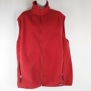 Patagonia Synchilla Red Fleece Vest Men's Size XL